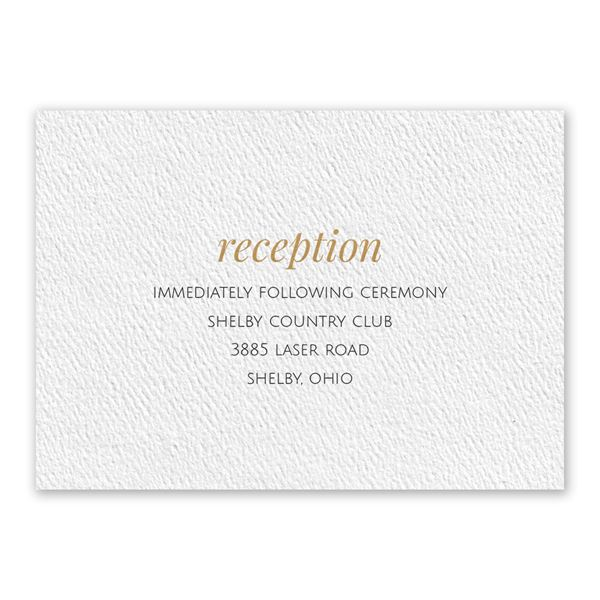 You and Me White Reception Card