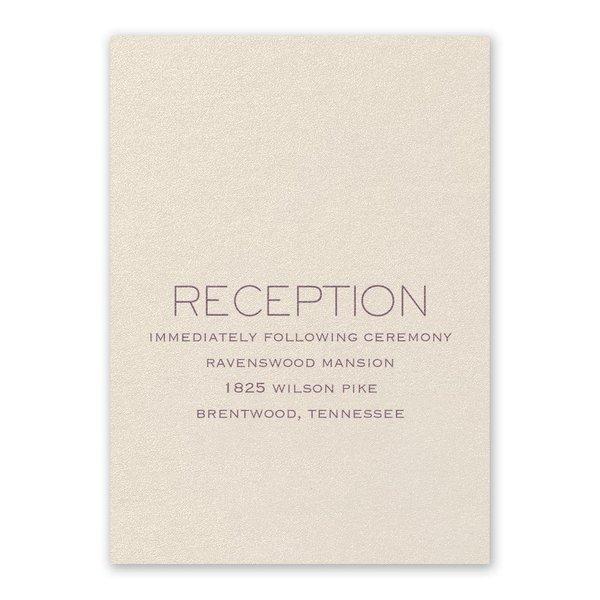 Modern Love Ecru Reception Card