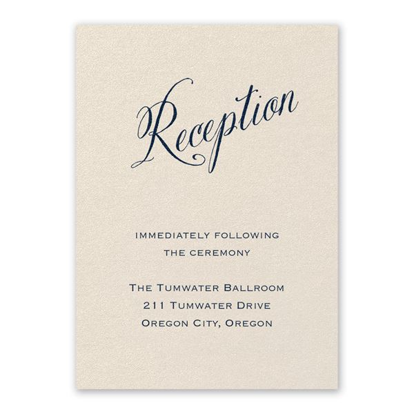 Meant to Be Ecru Reception Card