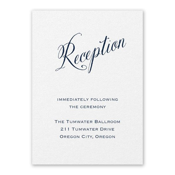 Meant to Be White Reception Card