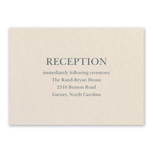 So in Love Ecru Reception Card