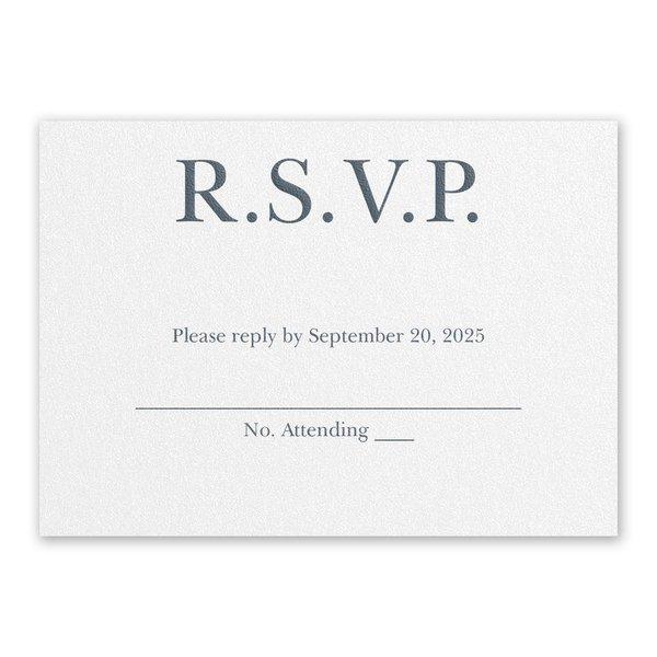 So in Love White Response Card
