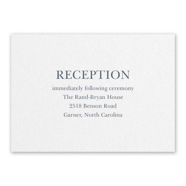 So in Love White Reception Card