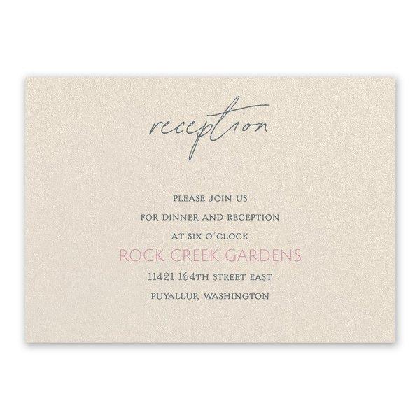 Sweet Statement Ecru Reception Card