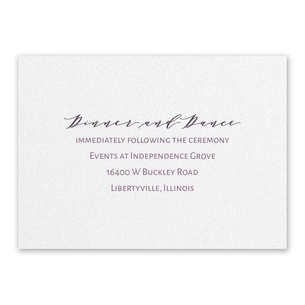 Classic Couple White Reception Card