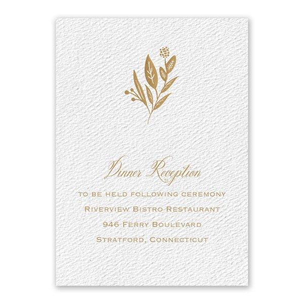 Evermore White Reception Card