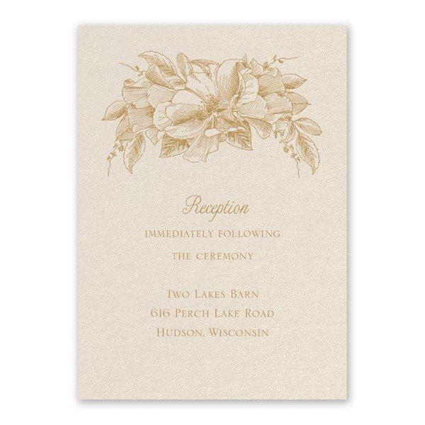 Forever Floral Ecru Reception Card