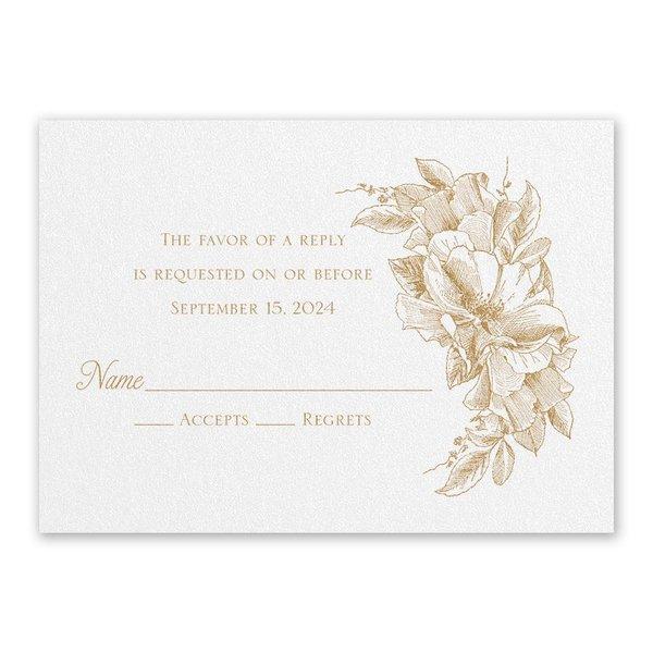 Forever Floral White Response Card