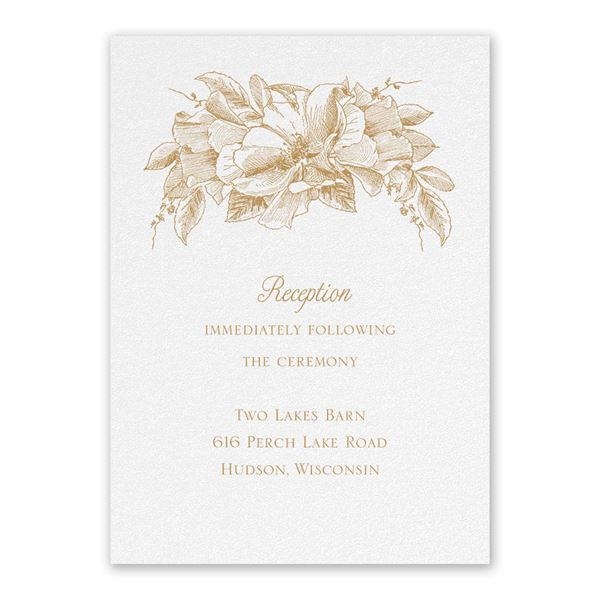 Forever Floral White Reception Card