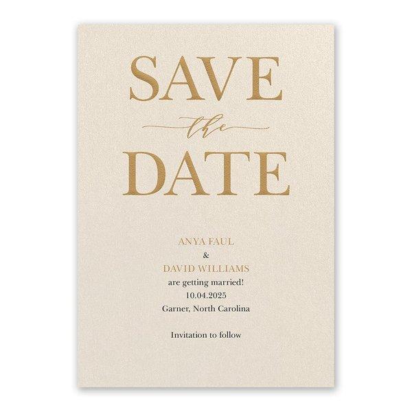 So in Love Ecru Save the Date Card