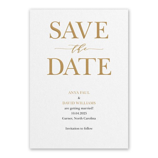 So in Love White Save the Date Card