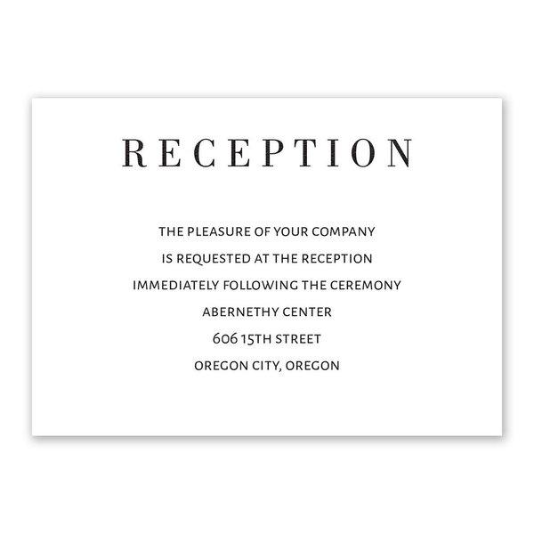 Sweet Monogram Reception Card