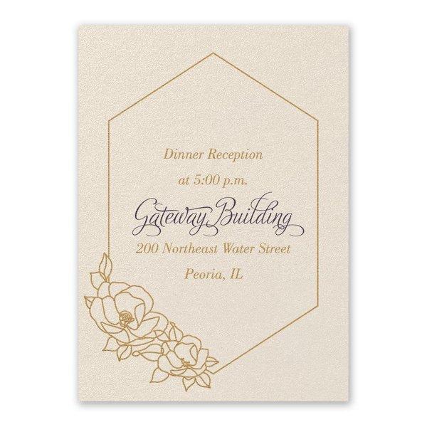 Wrapped in Elegance Ecru Reception Card
