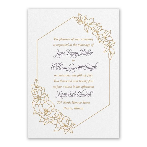 Wrapped in Elegance White Invitation