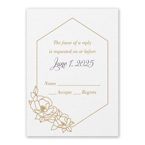 Wrapped in Elegance White Response Card
