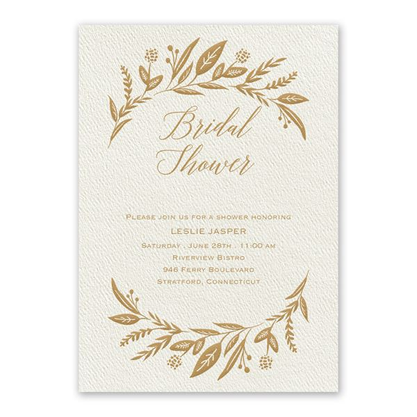 Evermore Ecru Bridal Shower Invitation