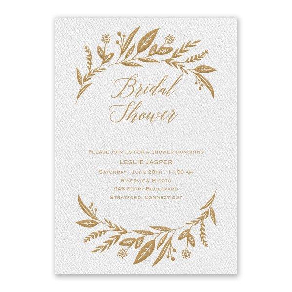 Evermore White Bridal Shower Invitation