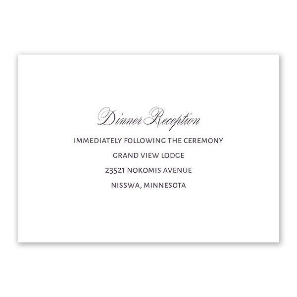 Sheer Sophistication Reception Card