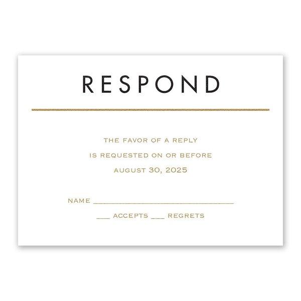 Framed Elegance Response Card
