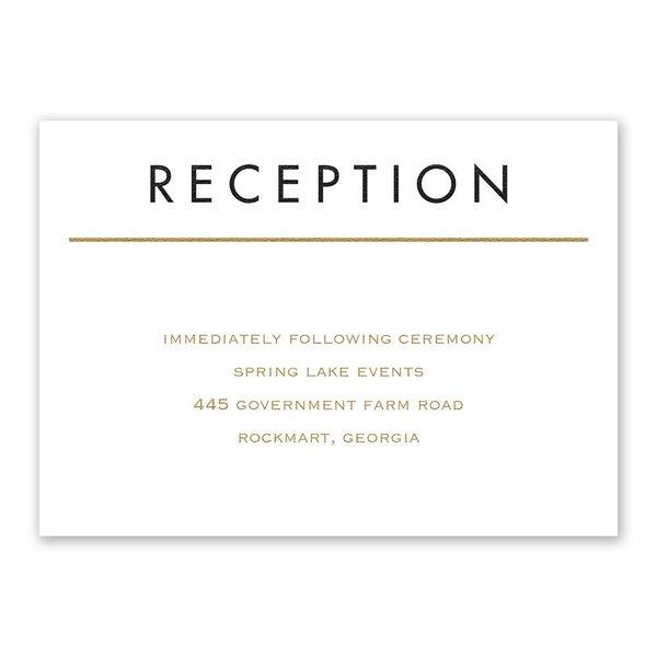 Framed Elegance Reception Card