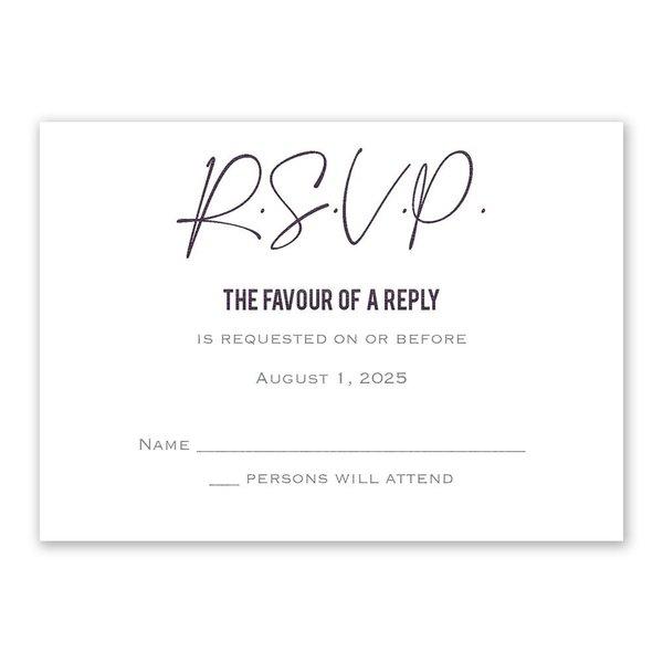 Lovely Script Response Card