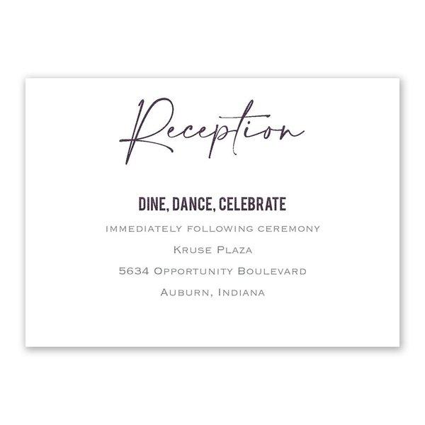 Lovely Script Reception Card