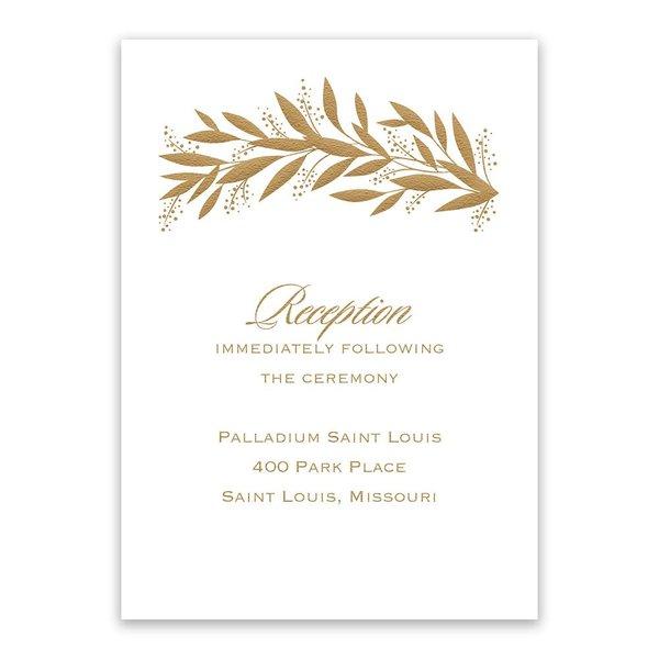 Gilded Greenery Reception Card