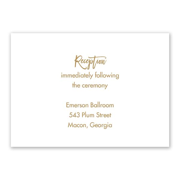 Radiant Reception Card