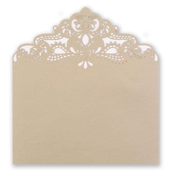 Gold Shimmer Laser Cut Envelope Liner