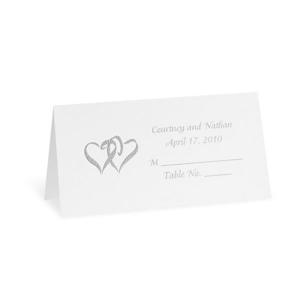 Bright White Design Choice Place Card