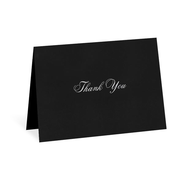 Modern Black Thank You Card and Envelope