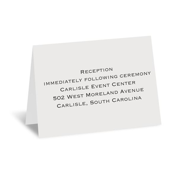 Sheer White Reception Card