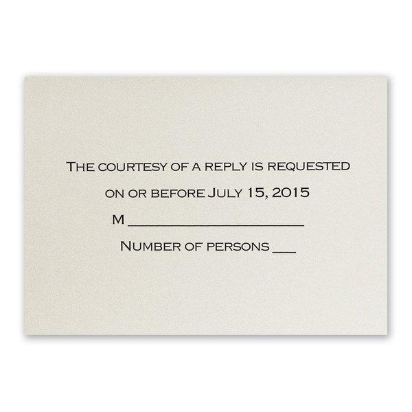 Ecru Shimmer Response Card and Envelope