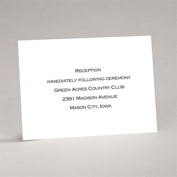 Bright White Reception Card Thermography