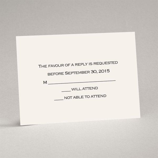 Ecru Response Card and Envelope