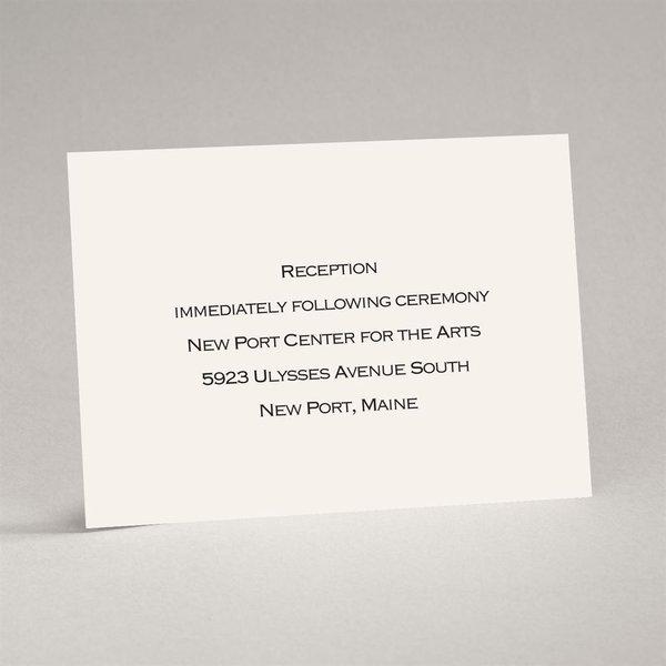 Ecru Reception Card