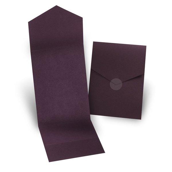 Eggplant Invitation Pocket