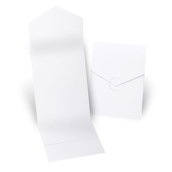 White Invitation Pocket