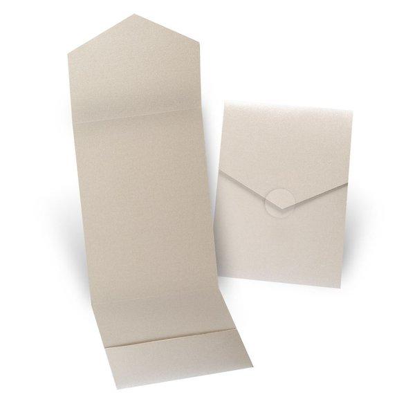 Gold Shimmer Invitation Pocket