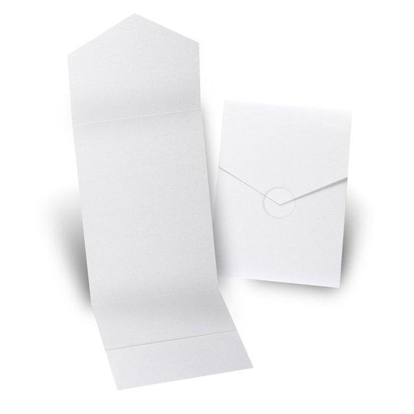 White Shimmer Invitation Pocket