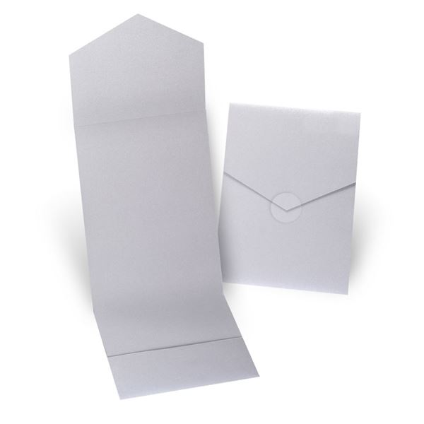 Silver Shimmer Invitation Pocket