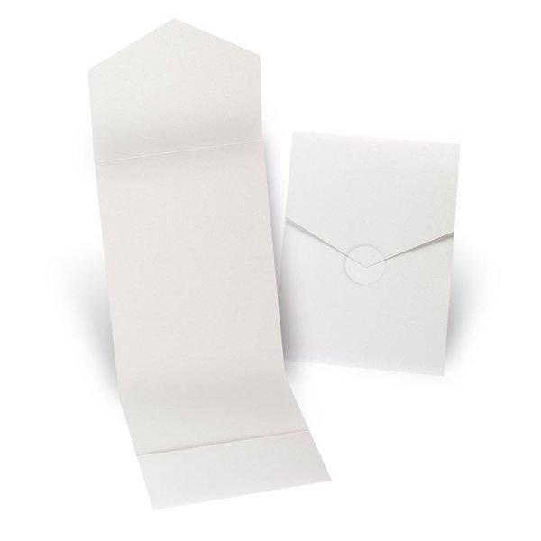 Ecru Shimmer Invitation Pocket