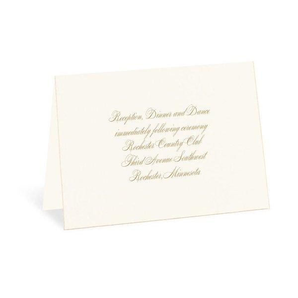 Gold Finish Reception Card
