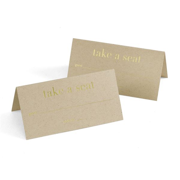 Golden Natural Place Cards
