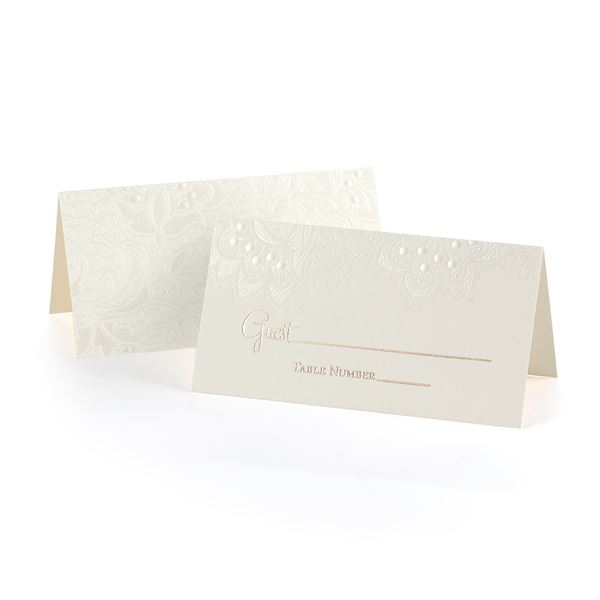 Lace Shimmers Place Cards