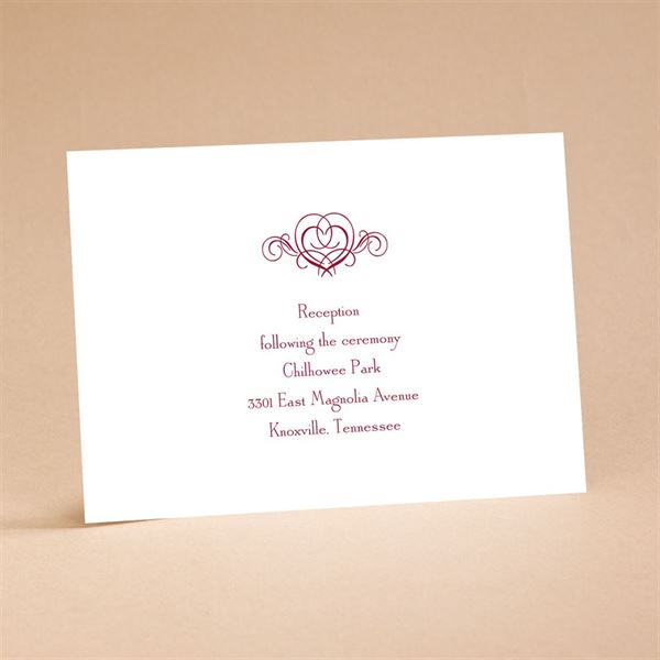 """It""""s Up To You Reception Card"""