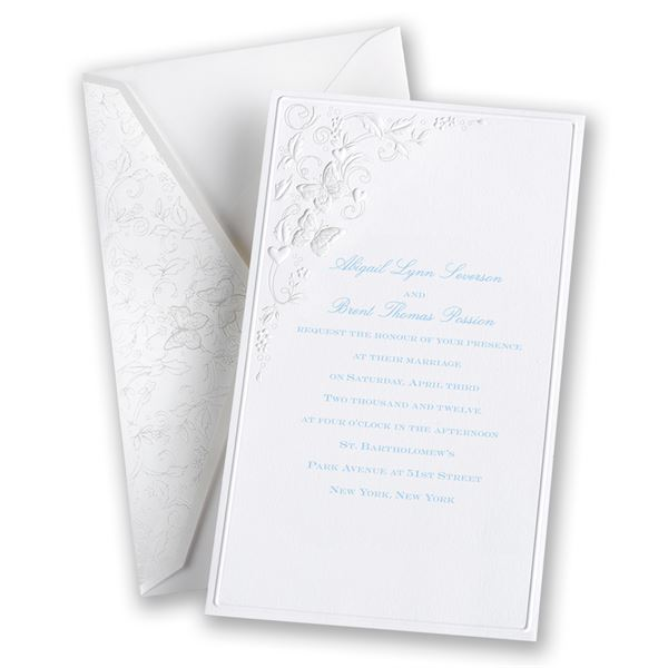 Romantic Butterflies Invitation