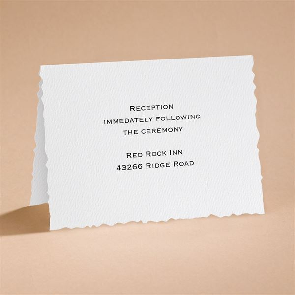 Textured Scalloped Edge Reception Card