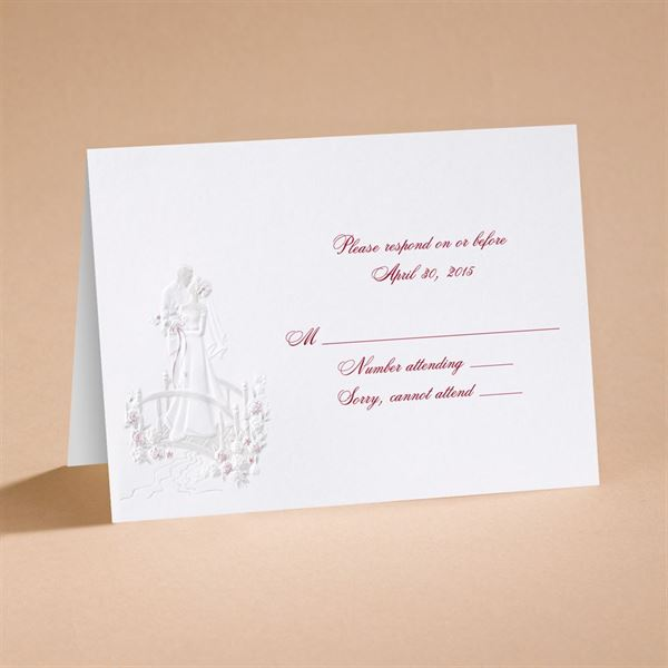 """Love""""s Journey with Accents - Respond Card and Envelope"""