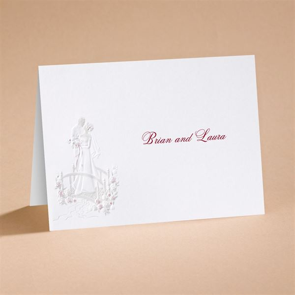 """Love""""s Journey with Accents - Note Card and Envelope"""